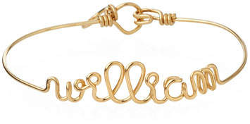 Atelier Paulin Personalized 10-Letter Wire Brooch, Yellow Gold Fill