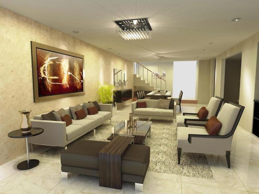 Decoraciondeinteriores4 ideas para el hogar pinterest for Salas grandes decoracion