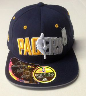 3fc3e914703 NBA Indiana Pacers Adidas 2 In 1 Visor Flat Bend Curved Flex Cap Hat NEW!