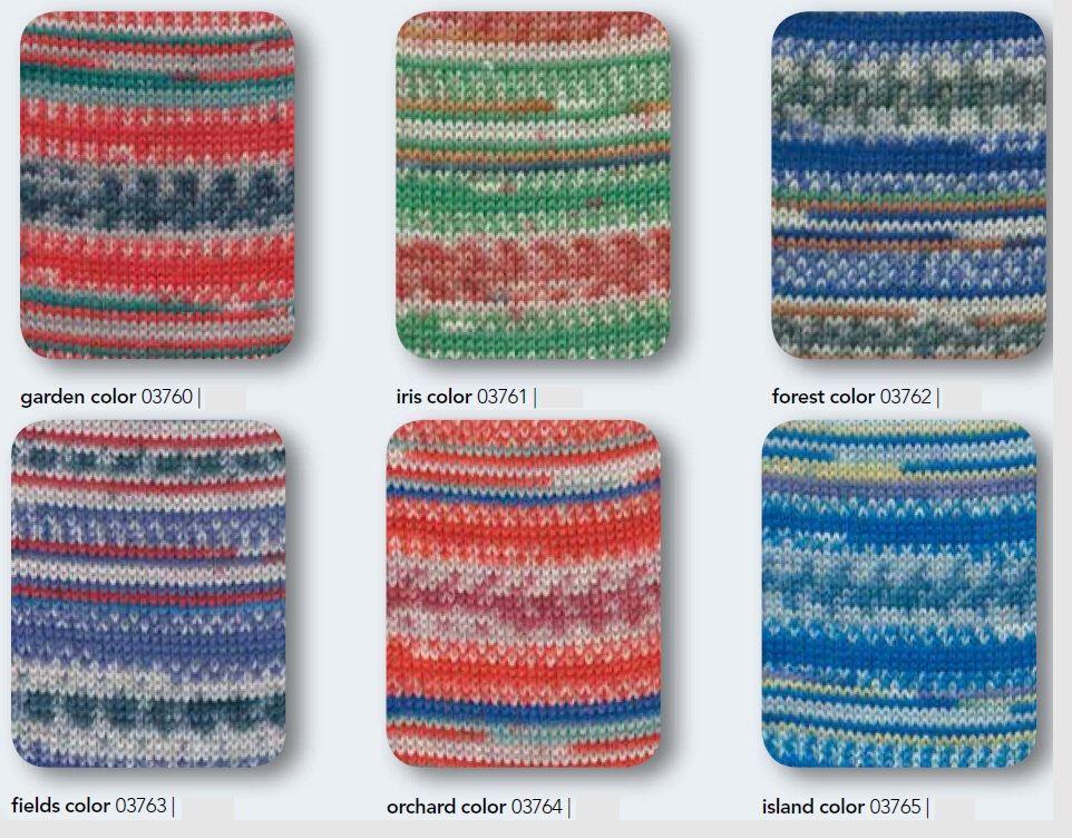 Regia Sock Yarn Arne Carlos Edition #2, get all 6 / 75% wool 25 ...