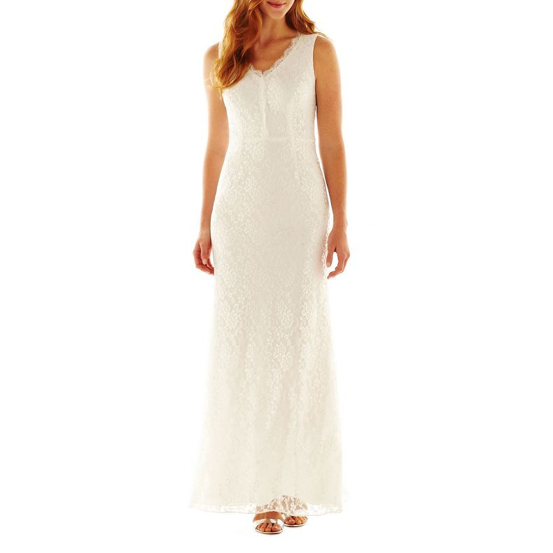 Simply Liliana Sleeveless Lace Gown