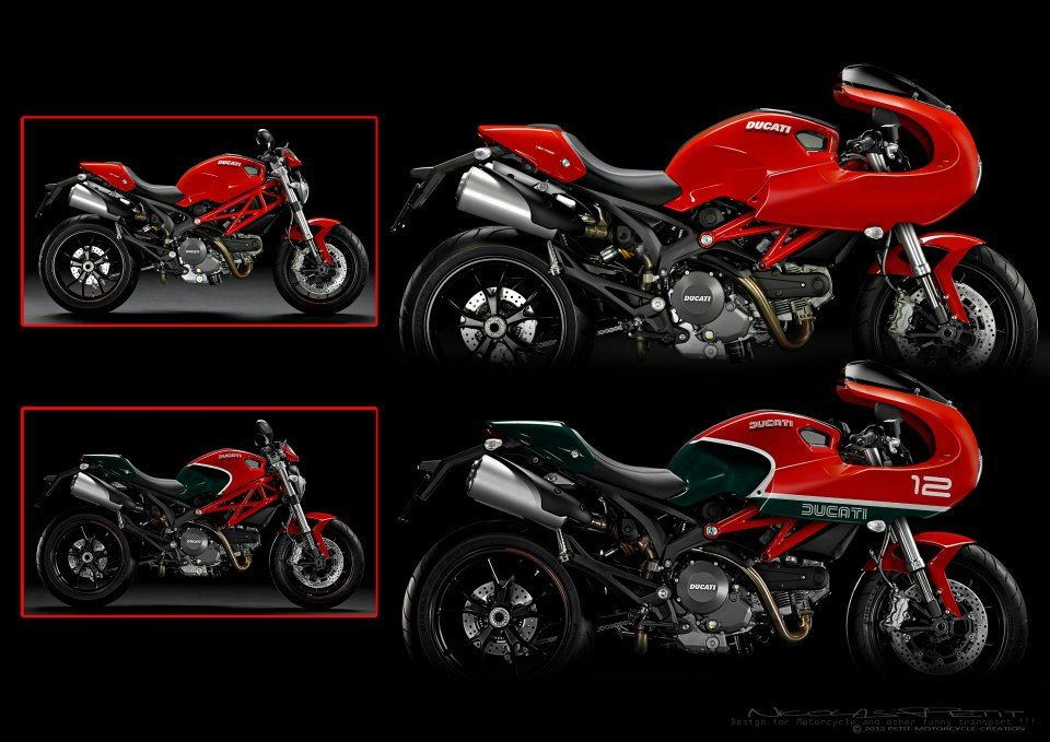 Nicolas Petit knocks it out of the park again with his Cafe Racer kits for the Ducati Monster