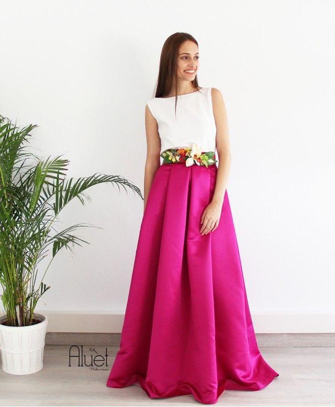 Falda Marchesa Larga | Pinterest | Faldas largas, Tabla y Falda