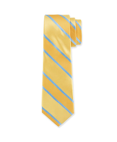VALENTINO Contrast Large Striped Tie, Yellow - was $135.0, now $90.0 (33% Off). Picked by mickster @ Last Call by Neiman Marcus