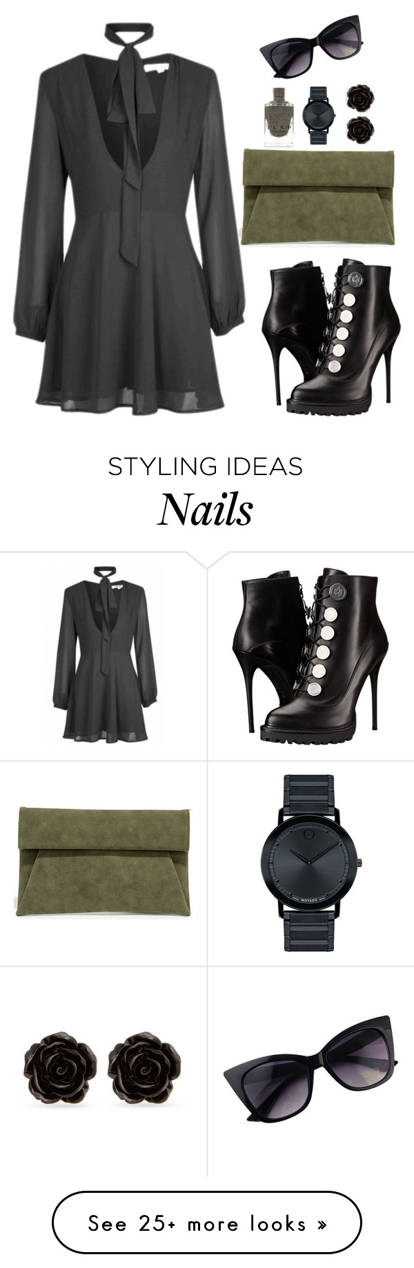 """""""Untitled #367"""" by hayleyl22 on Polyvore featuring Alexander McQueen, LULUS, Movado and Erica Lyons"""
