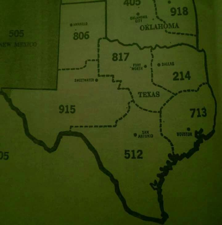 Area Code Map Of Texas.The Old Area Code Map Of The Great State Of Texas Texas My Texas