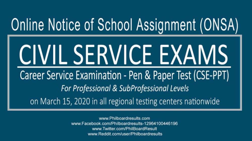 ONSA REGION 4 School Assignment March 15, 2020 CSEPPT