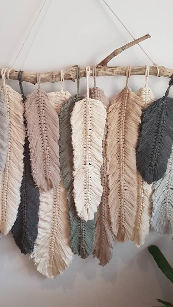 Photo of Feather wall macrame hanging