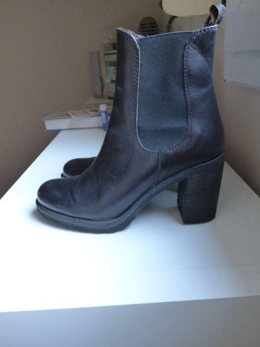 35c6ceadf56d20 🌸 Bottines - cuir - Talon - Noir - Chelsea boots 🌸 - vinted.fr ...