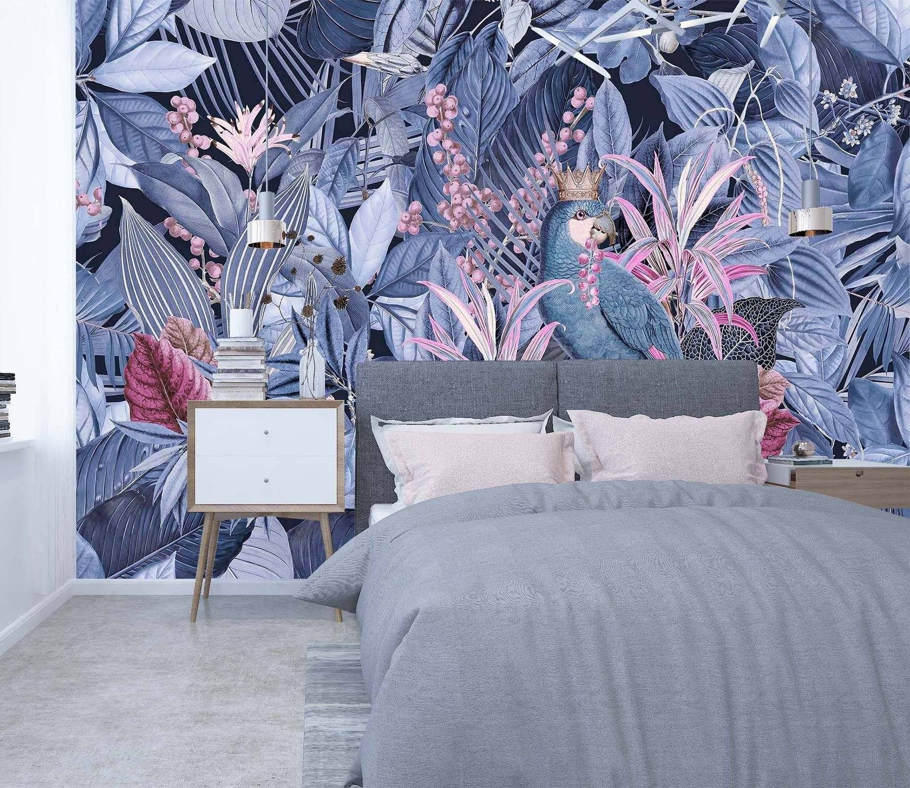 3D Purple Forest 1004 Andrea haase Wall Mural Wall Murals Dai