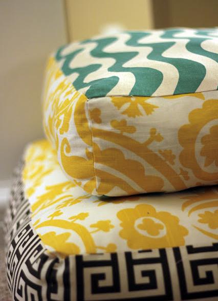 How to make Giant Floor Pillows   The Room for Living   Pinterest ...
