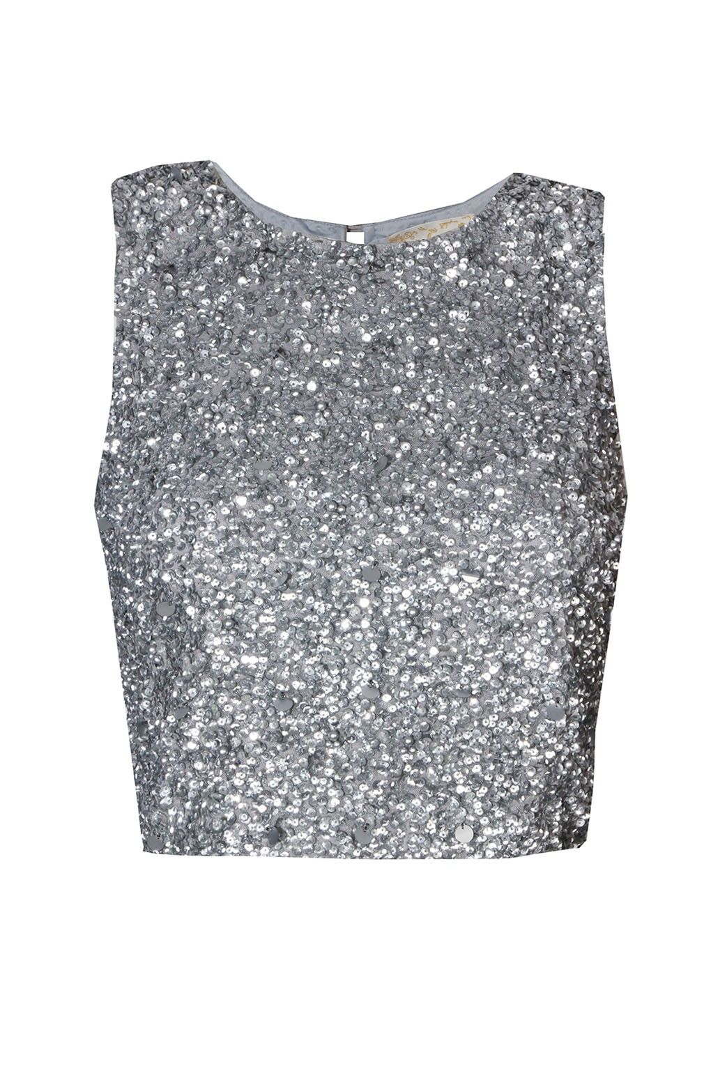 379ecf98e2778 Lace   Beads Picasso Sliver Sequin Top