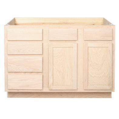 Bathroom Vanity Sink Drawer Base Unfinished OakKITCHEN - Bathroom vanities dallas