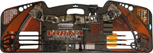 Barnett Vortex Youth Archery Compound Bow, Camo 3 Arrows Adjustable Site 1106