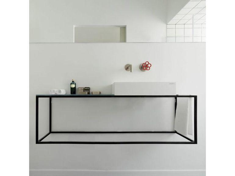 14 alternative mobile bagno telaio metallo minimal colore for Mobile bagno minimal