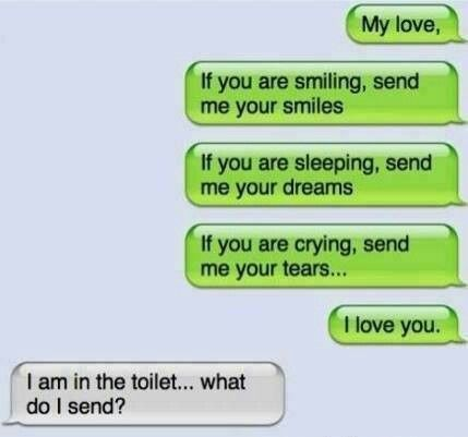 Haha and the mood is ruined...