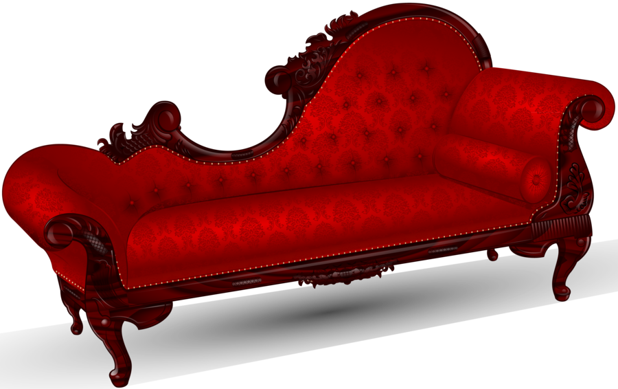 Victorian Fainting Couch - red chaise lounge sofa vector ...