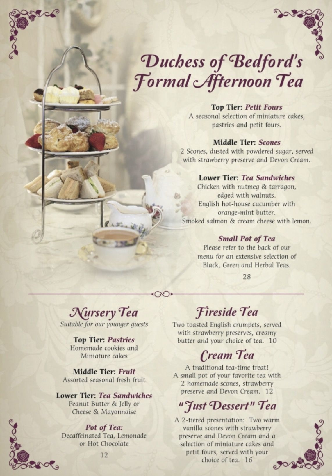English Rose Tea Room Carefree Arizona Tea Party Sandwiches