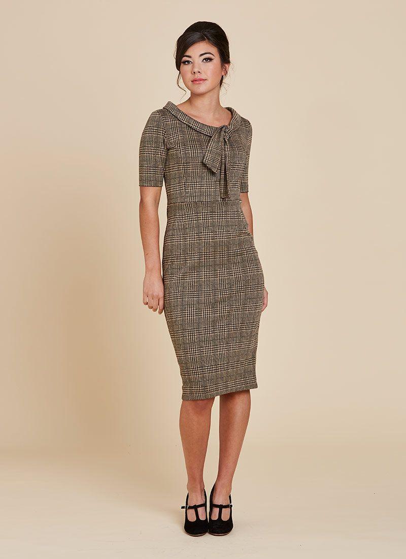 Hendricks Check Stretch Pencil Dress   Pencil dress, Dresses