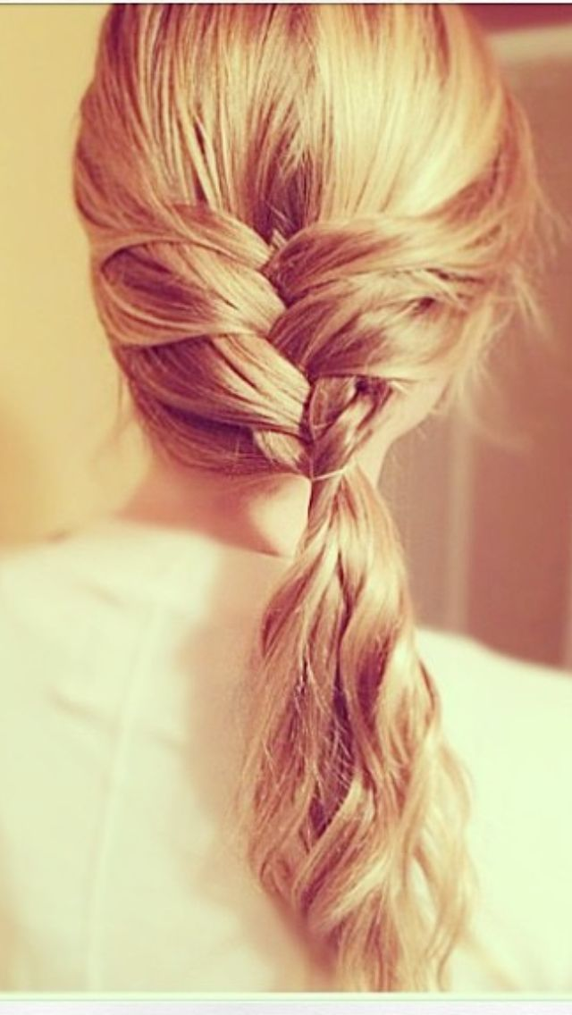 Blond braid pony