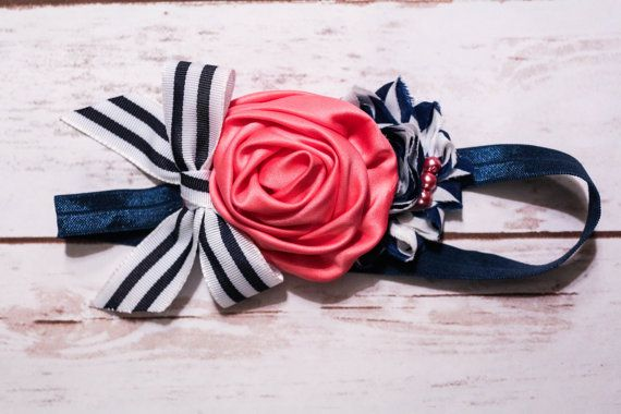 Hey, I found this really awesome Etsy listing at https://www.etsy.com/listing/223700116/navy-and-coral-headband-photography-prop