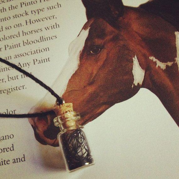 Paint Horse Totem Bottle Pendant by SeaShards on Etsy, $5.00