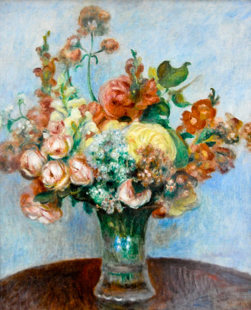 pierre auguste renoir fleurs dans un vase 1898 at mus e de l 39 orangerie paris france renoir. Black Bedroom Furniture Sets. Home Design Ideas