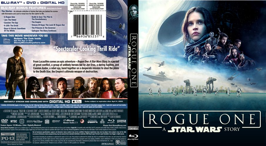 9c5f957cc2457b Rogue One Custom Blu-ray Cover