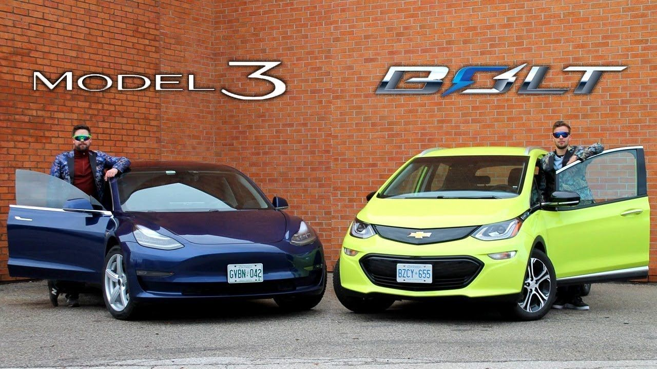 Tesla Model 3 Vs Chevrolet Bolt Electric Face Off Youtube