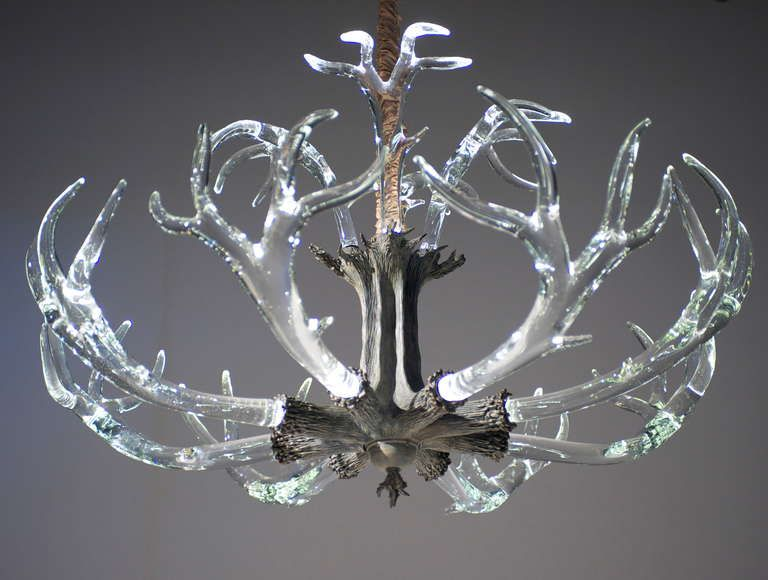 Stunning Huge Crystal Antler Chandelier By Jason Lawson From A Unique Collection Of Antique And Modern Chandeliers Pendants At