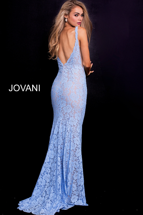 3bec7a6a6f2 Jovani 48994 Lace gown with sheer sides