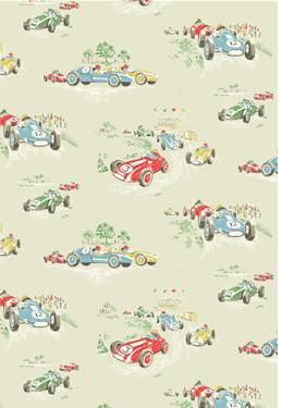 Cath Kidston Vintage Racing Car Wallpaper Cath Kidston Vintage Car Crafty Fabric Boys Room