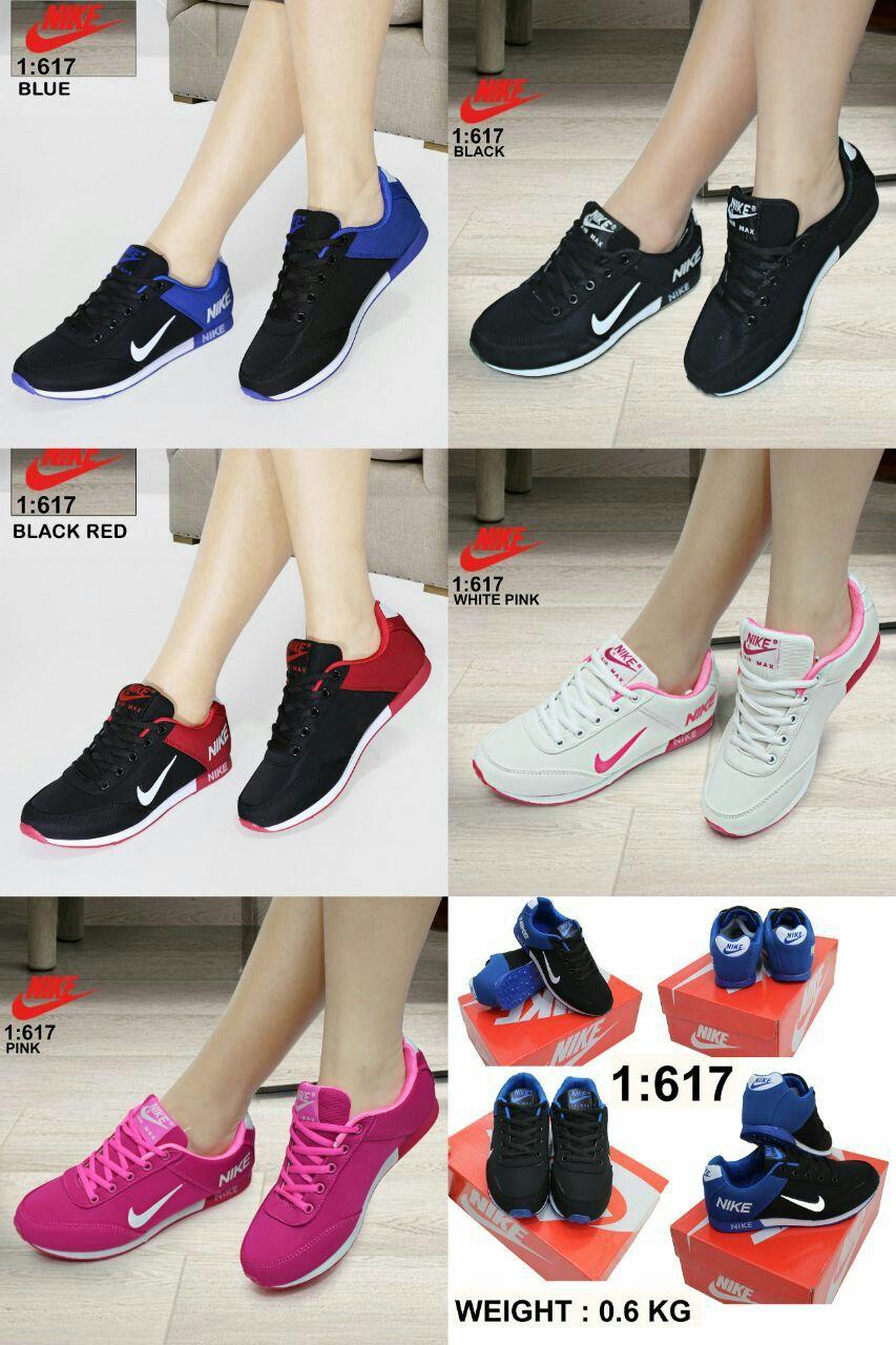 Sepatu Sport Lady Merek Nike Seri 617 Kualitas Semprerm Bahan