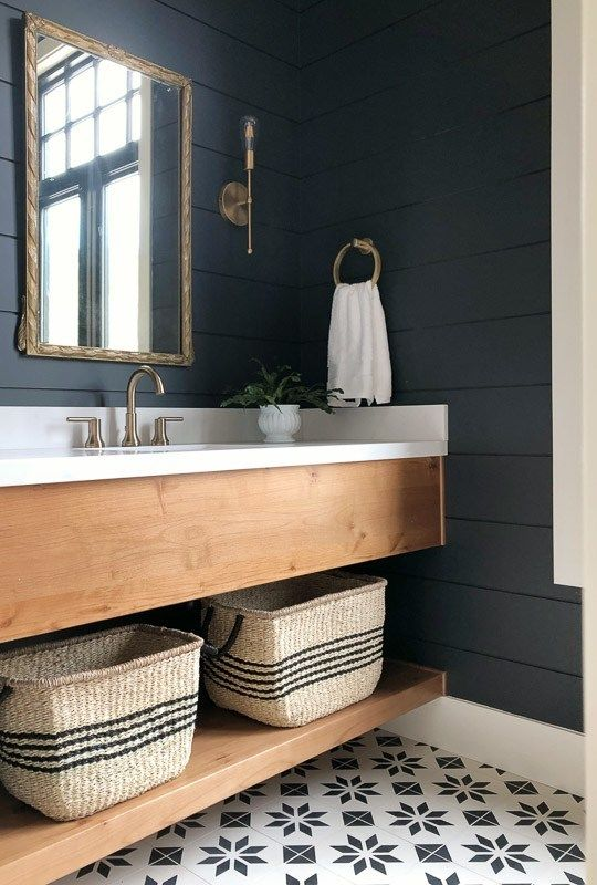 Photo of The Mountain View House – Powder Bath and Utility Room Reveal – Lindsay Hill Interiors