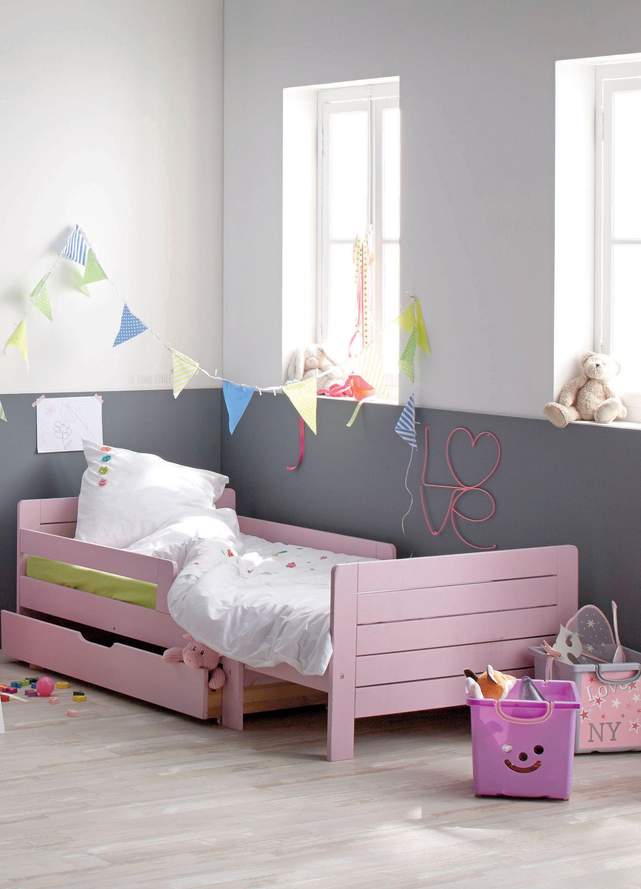 Lilou Lit Evolutif Rose 3 Positions Pour Enfant Alinea Lit Evolutif Lit Deco Maison