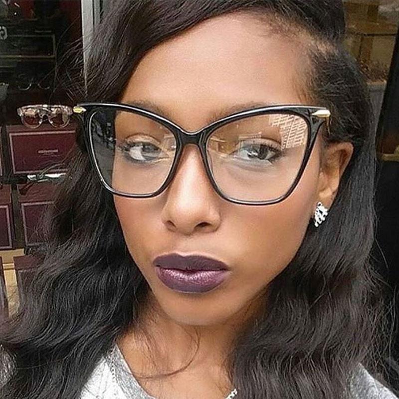 Photo of Cat Eye Glasses Frames For Women Sexy Oversized Metal Frame Optical EyeGlasses Fashion