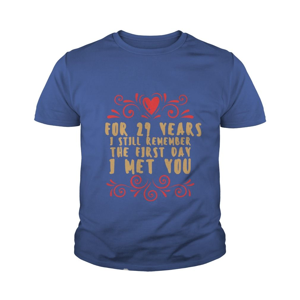 Meaning T Shirt For Husband And Wife 29th Wedding Anniversary Gift