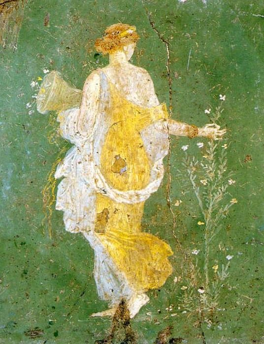 Flora or Spring, fresque de Stabiae | Pompei | Pinterest | Flora ...