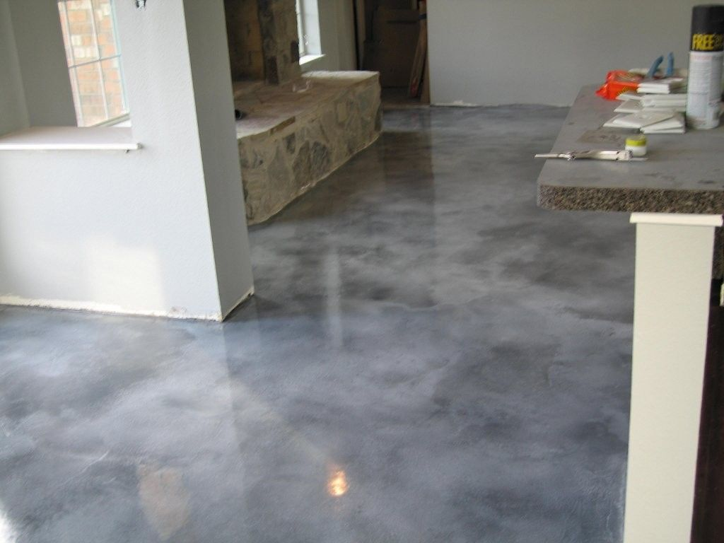 Light Gray Concrete Floor Stain