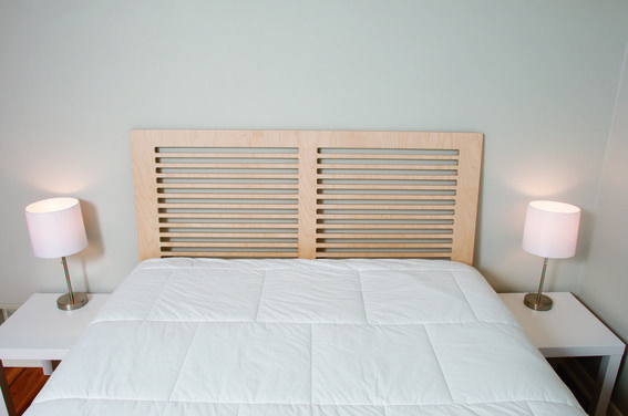 Modern Headboard Ideas how to: make a diy modern headboard from one sheet of plywood