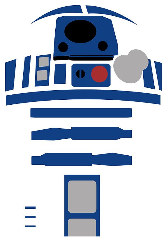 R2D2 Star Wars Art Work Wall Print Poster By Geeksleeksheek