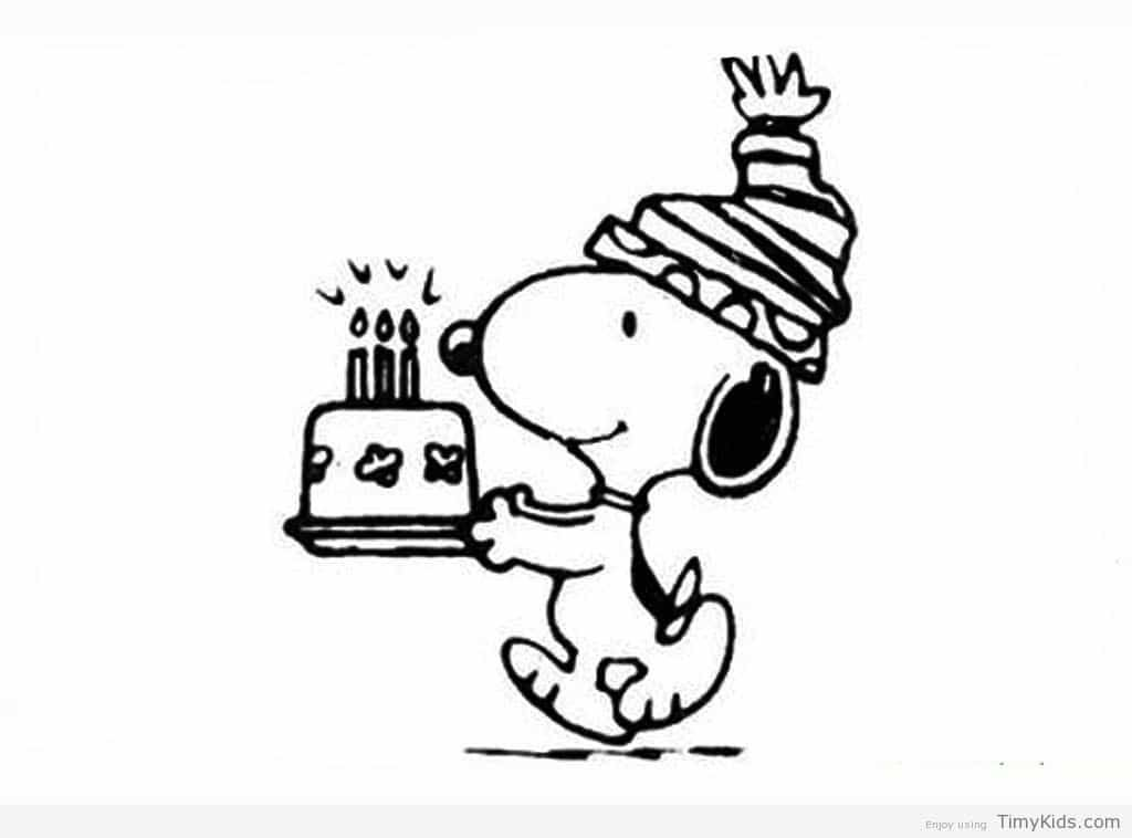 http://timykids.com/snoopy-birthday-coloring-pages.html | Colorings ...