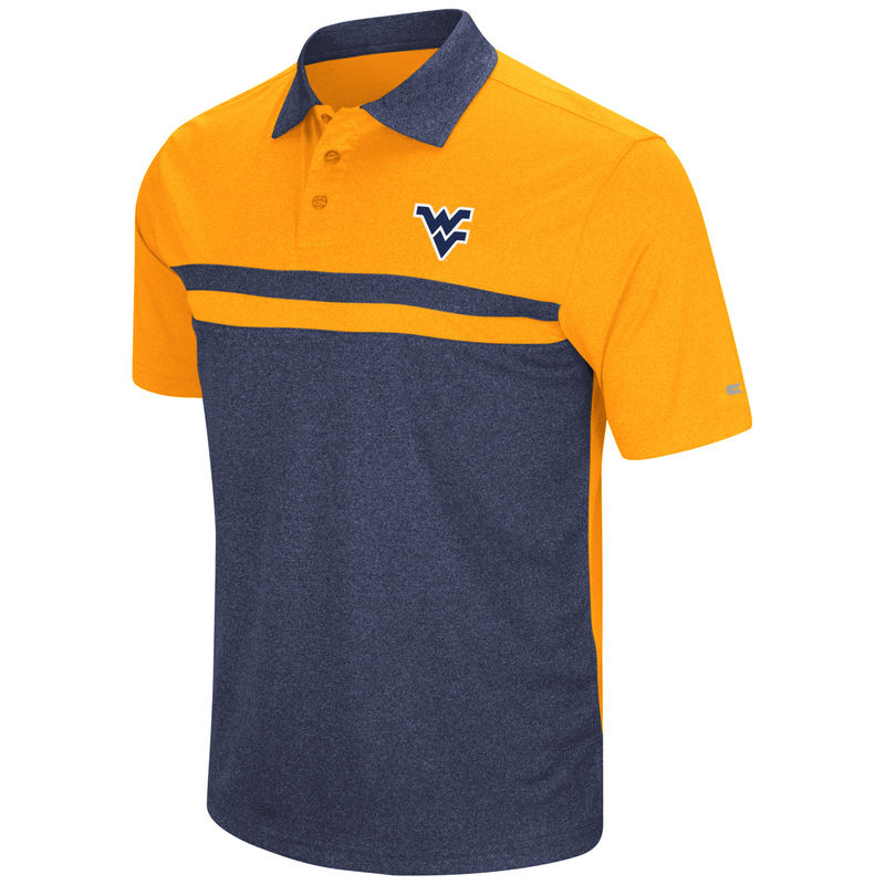 19e62d9ca West Virginia Mountaineers Colosseum Bails Polo - Gold/Navy ...