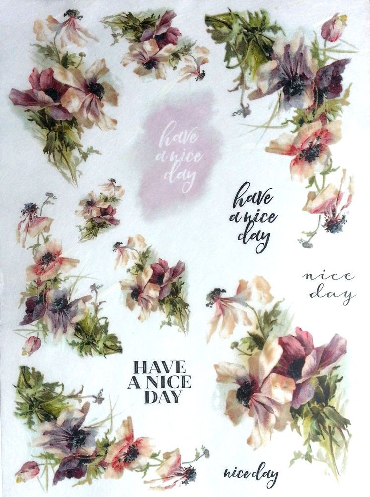 Have a nice day Decoupage Sheets Rice Decoupage Paper Scrapbooking