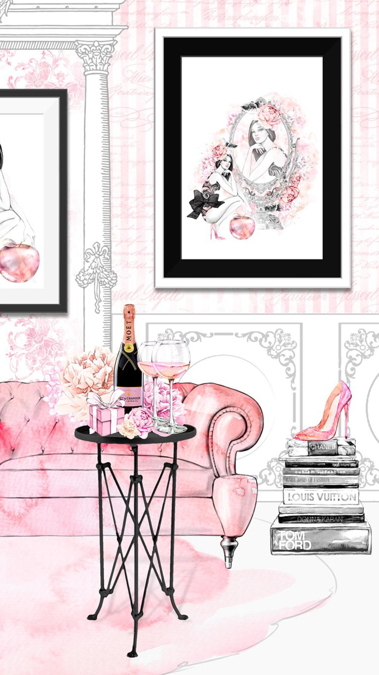 W.PHONE* ** * Fashion wallpaper, Megan hess illustration