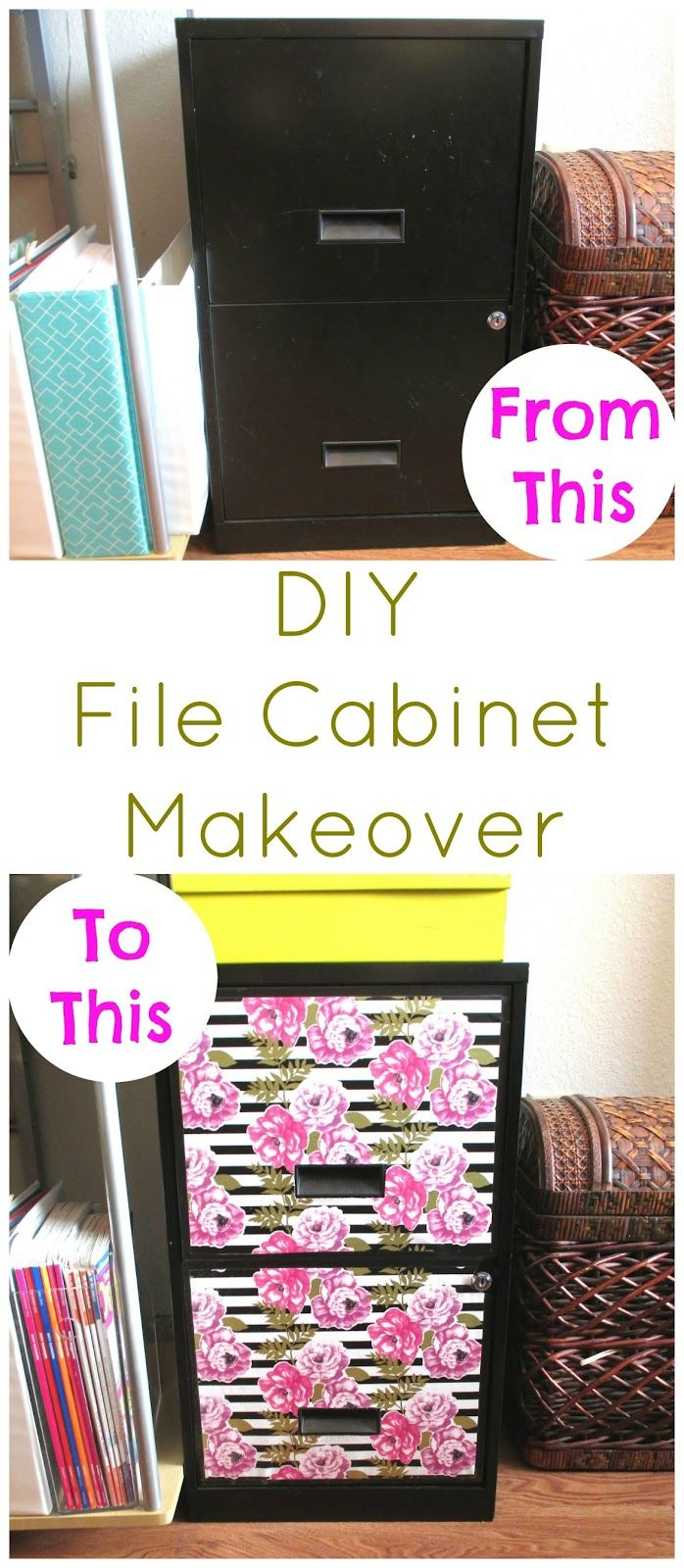 covering furniture with contact paper. DIY File Cabinet Makeover - Easy Using Wrapping Paper And Contact Shelf Liner Covering Furniture With