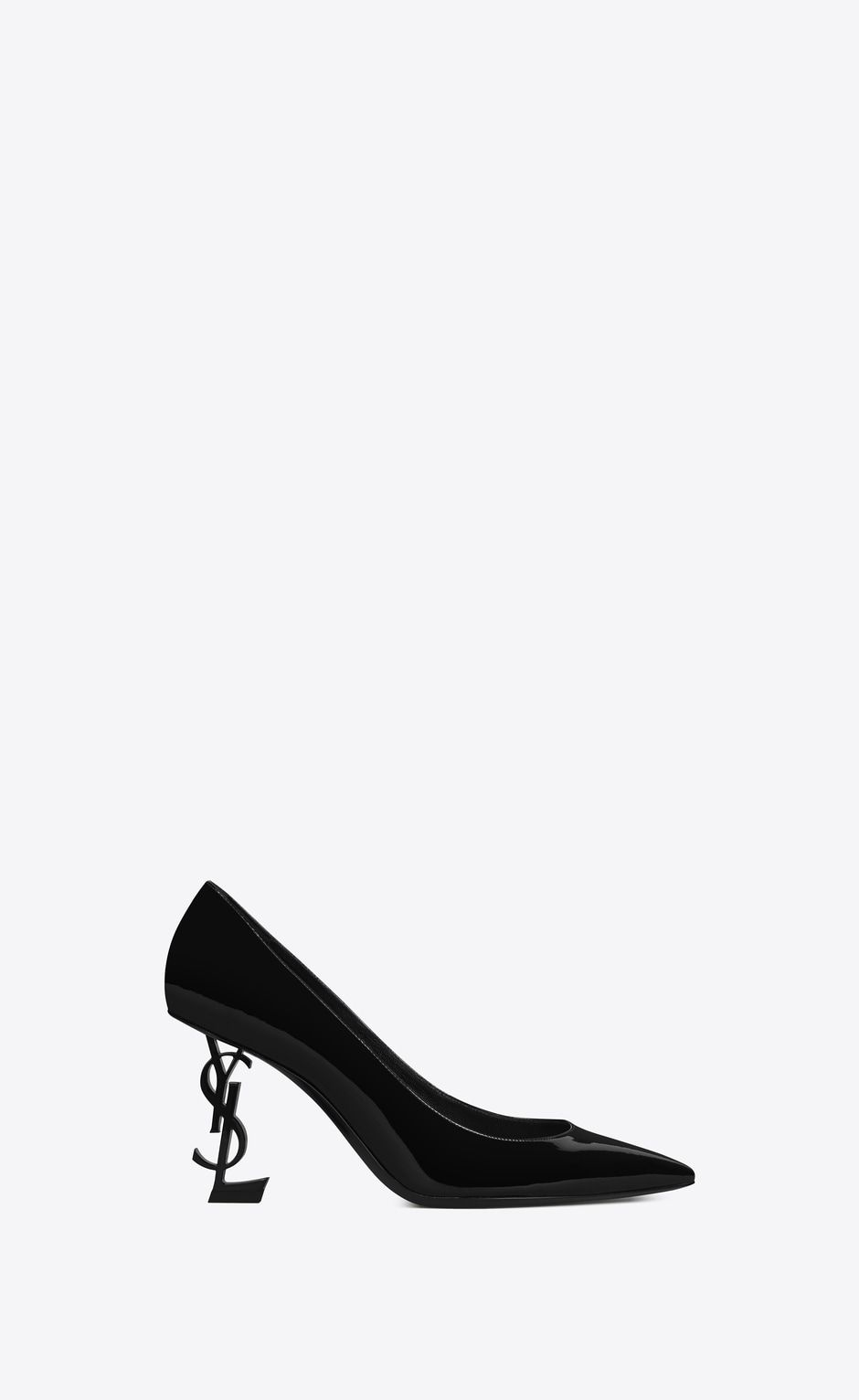 59ac9d96e SAINT LAURENT YSL heels Woman OPYUM 85 Pump in Black Patent Leather and  Chrome V4