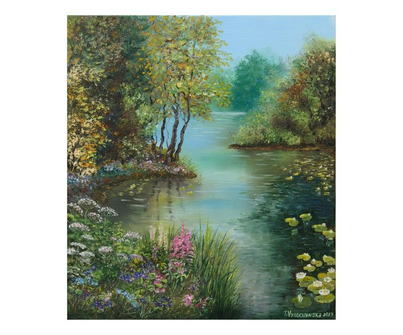 Abstract Photography For Beginners 9 Tips For Capturing: Summer Landscape Forest Lake Oil Painting Oil Canvas 12