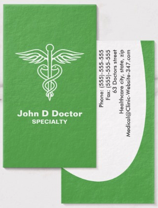 Green Medical Doctor Or Healthcare Business Card Zazzle