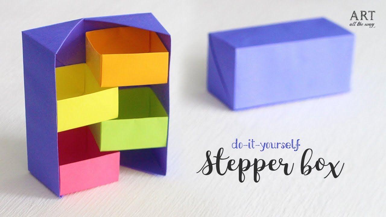 Diy Secret Stepper Box Paper Craft Secret Box Crafts